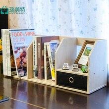 Rui US special small bookcase with drawers office Mini Creative Desktop small bookcase shelf bookcase student table