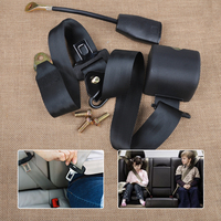 Car Auto Vehicle SUV Truck 3 Point Retractable Seat Lap Belt Safety Strap Adjustable Security Belt