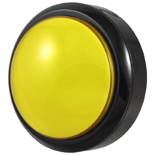 цена на Arcade Game 80mm Yellow Illuminated Momentary Push Button SPDT Micro Switch