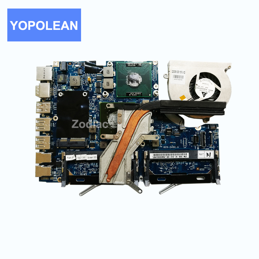 For Apple Macbook 13 inch A1181 Logic Board Motherboard With CPU Cooling System 2 13 GHz