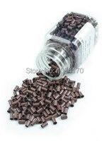 10000 Adet/grup 3.4mm 8 renk yüksek kaliteli Bakır Mikro Yüzük Saç uzatma mikro boncuk