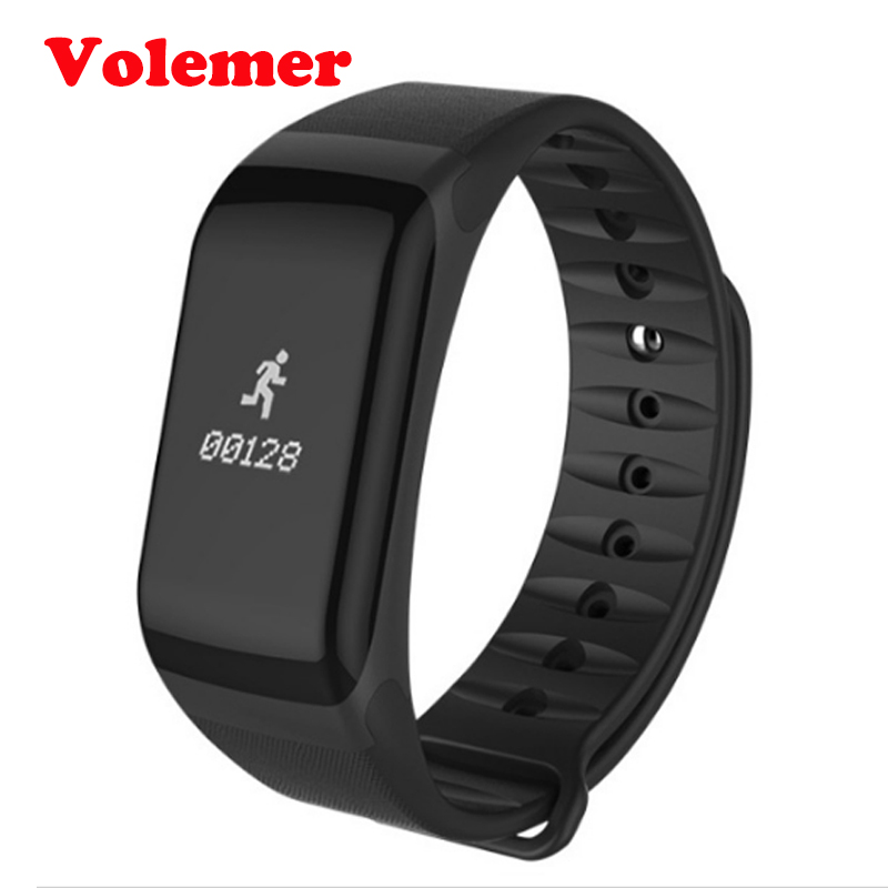 Volemer Fitness Tracker Wristband Heart Rate Monitor Smart Band F1 Smartband Blood Pressure With Pedometer Bracelet