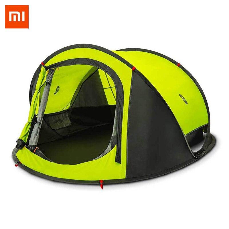 Xiaomi Mijia zaofeng D'origine 3-4 Personnes Automatique Tente de Camping En Plein Air Étanche Double Couche Auvent Parasol Rapide Installation