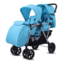 High Landscape Twins Stroller With Foot Cover, Foldable Twin