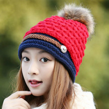 New Fashion Winter Hats for Women Cute Handmade Knitting Warm Skullies Beanies for Ladies Brand Wool Girls Cap Gorros Mujer Hat