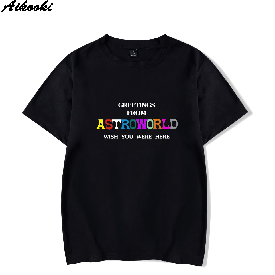 Aikooki Fashion   T     shirts   ASTROWORLD   T  -  shirt   Men/Women Hip Hop Short Sleeve Summer Print   t  -  shirt   Casual Men's Tees