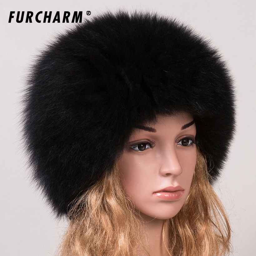 Women 's Genuine Fox Fur Beanies Russian Winter Warm Fur Hat 100% Real Fox Fur Knitted Hat Casual Dome Mongolian Caps каталог fox s