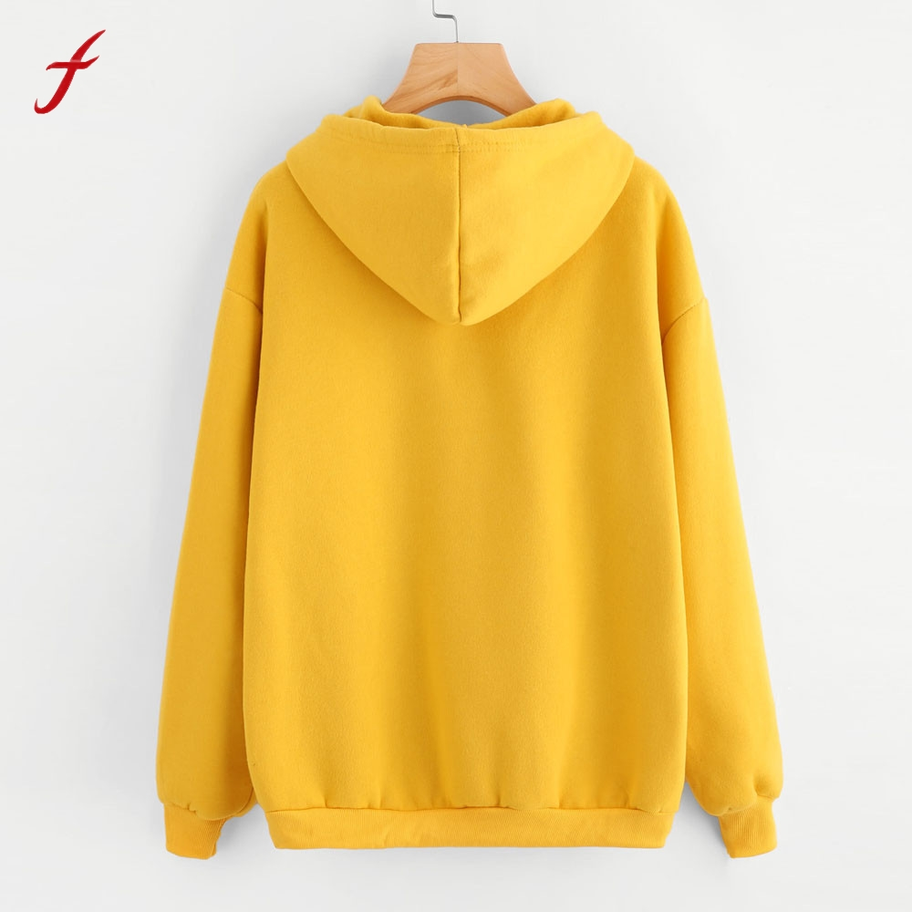 Womens Printing Long Sleeve Cotton Hoodie Sweatshirt Printing Long Hooded Pullover Tops Blouse 2017 Winnter harajuku Hoodies