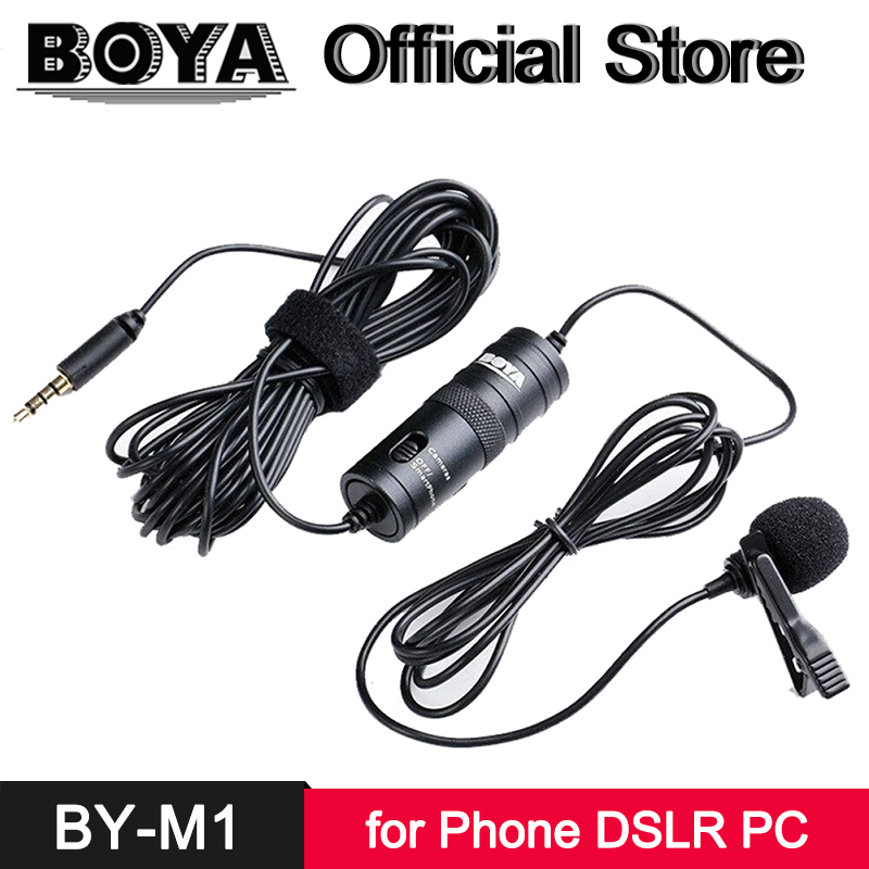 Lavalier Microphone for iPhone X 8 7 6s 6 Android Smartphones Canon Nikon Sony Panasonic DSLR Camera Camcorder Audio Recorder PC