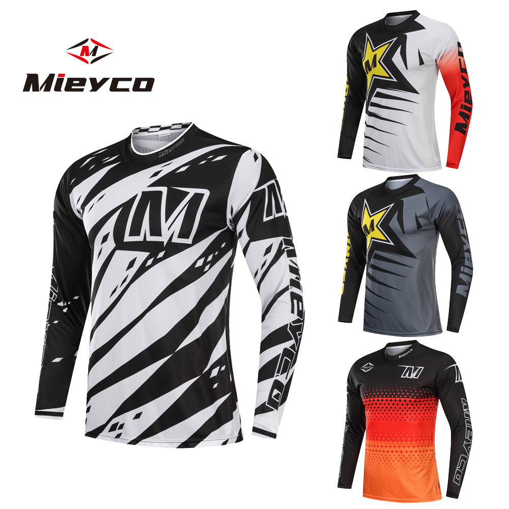 Downhill Jersey T-Shirt Bicycle Moto MTB Mountain-Bike DH Sportswear Ciclismo Long BMX title=
