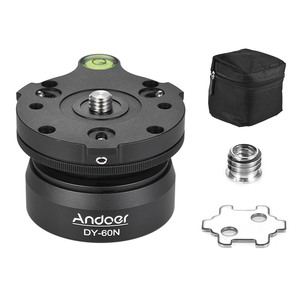Image 3 - Andoer Tripod Head DY 60N Tripod Leveling Base Leveler Adjusting Plate for Canon Nikon Sony DSLR Camera