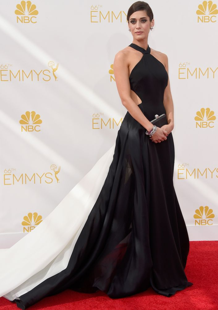 Vestido emmy awards red carpet dress black and white evening dress prom gown formal celebrity - Black and white red carpet dresses ...