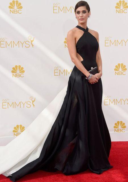 vestido Emmy Awards Red Carpet Dress Black and White Evening Dress Prom Gown  Formal Celebrity Dress Cross Back Long Evening Gown 210fd4107082