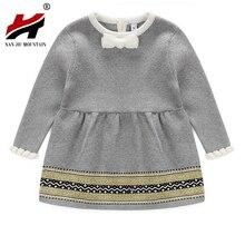 Campure Mode Automne Hiver Nouveau-Né Bébé Filles Chandail Princesse Robe Infantile Tricot Gress Enfants Petite Fille Jersey Robe Tablier
