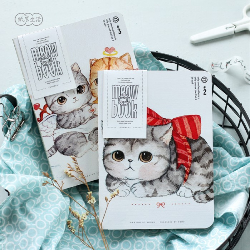 Cute kitten & Plant notebook journal diary book planner hand books note pad for kids kawaii stationery sosw fashion anime theme death note cosplay notebook new school large writing journal 20 5cm 14 5cm