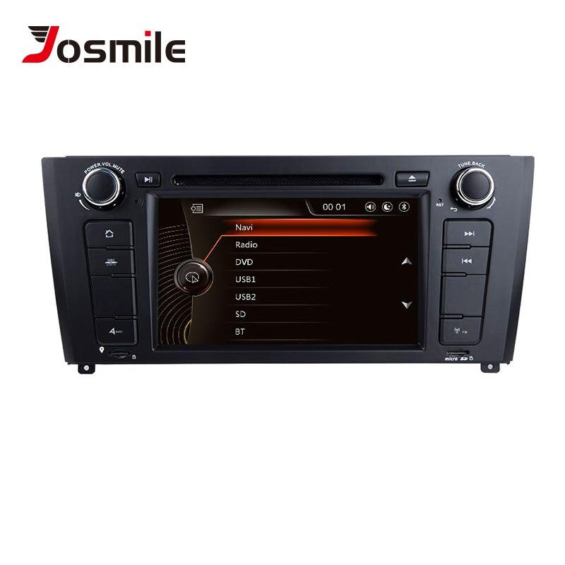 Lecteur DVD voiture josourire 1 Din AutoRadio pour BMW E87 1 série 1 E88 E82 E81 I20 Navigation système d'écran multimédia GPS DAB + CD 3G