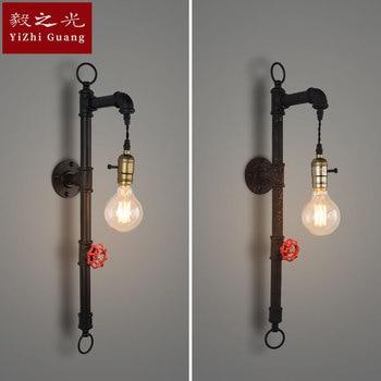 Industrielle wind, der alte weisen led wand lampe cafe restaurant bar licht rohr lampe, schmiedeeisen lampe beleuchtung