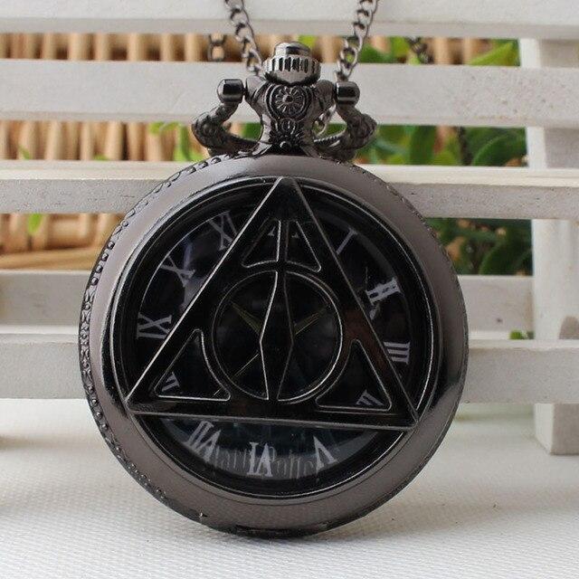 Hogwarts School Badge Movie Watches Pocket Watch Quartz fob Watches Men with Nec