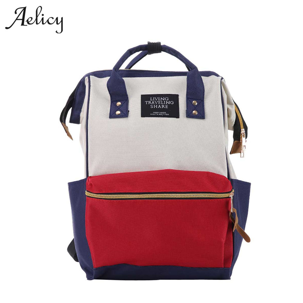 Aelicy Canvas Female Densign School Bag For Teenagers Girls Large Capacity Korean Fashion Backpack Schoolbag 1110