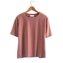 HziriP Summer T Shirt Solid Tops Fashion Trend Korean Casual Loose T-shirt All Match Cool O-neck Short-Sleeve Tee Shirts Top