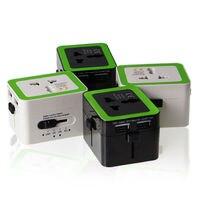110 v a 220 v Viagens Pelo Mundo Universal Powercube USB tensão de Alimentação AC Adaptador Multi Plug UA REINO UNIDO EUA UE tomada
