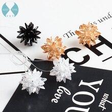 DIY flash accessories zircon three-dimensional flower pendant earrings bracelet necklace pendant earrings ear hook material