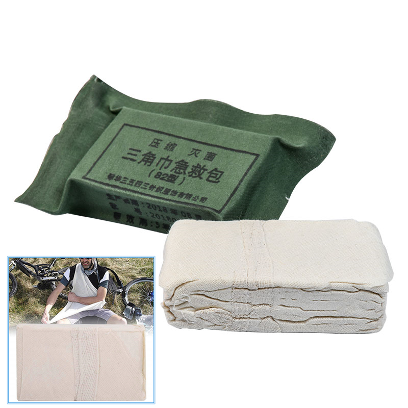 Army Troop Training Compression 82 Triangle Towel Bandage First Aid Emergency Kit Gauze Compression Sterilization Medical Rescue