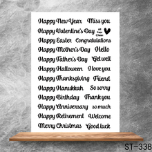 Happy every day Transparent Clear Stamps DIY Scrapbooking Album Card Making DIY Decoration Making Embossing Stencil happy birthday words clear transparent stamps diy crafts card album making stencil decor scrapbooking embossing new stamps 2019