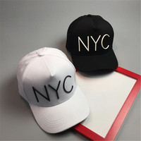 New Cotton Letter NYC Baseball Cap Snapback Hat For Men Casquette Women Leisure Outdoor Sport Hat