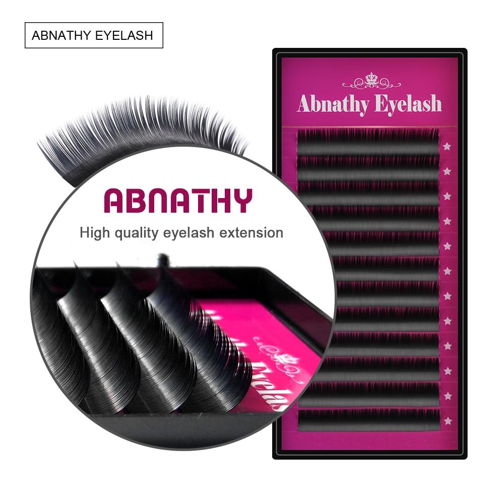 Abnathy ทุกขนาดขนตาปลอมนามสกุล Mink สีดำวัสดุ JBCD หยิก 1 ถาด / จำนวนมาก
