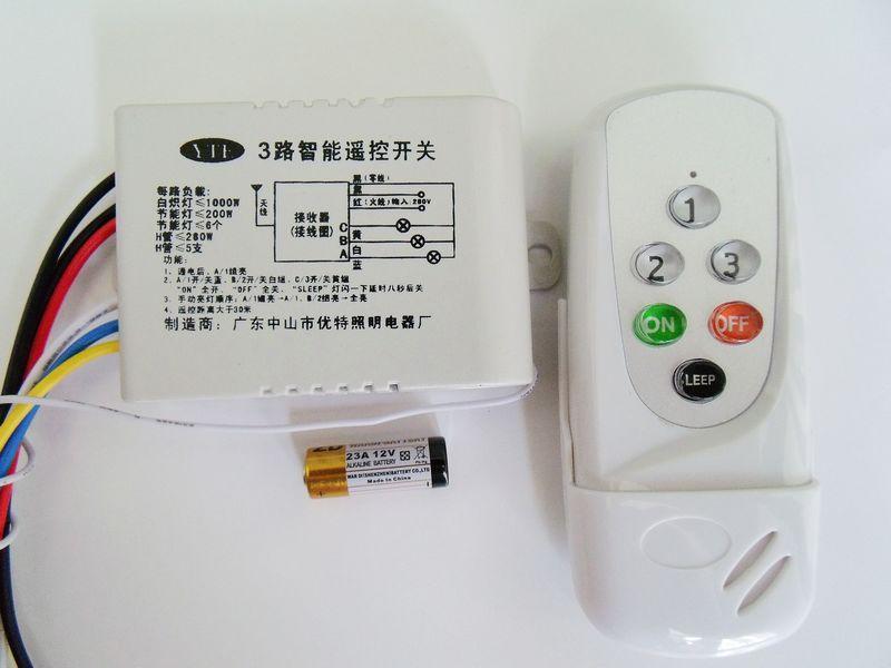 Crystal Light Chandelier 3 Way Switch Remote Control 220v