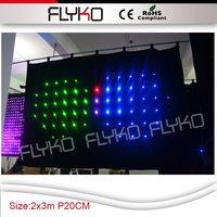 Бесплатная доставка 2X3 м p20cm светодиодный декор занавес для свадебного зала SD контроллер программного обеспечения в том числе