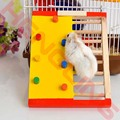 Colorful Funny Colorful Natural Exercise Hamster Climbing Ladder Wooden Rat Mouse Toys Exercise Tool 19*14*2cm