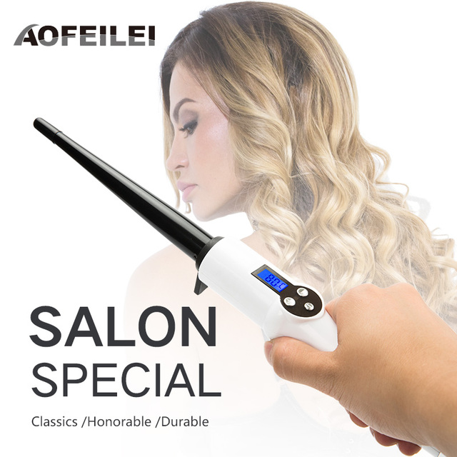 Professional Ceramic Hair Curling Wand electric Temperature Hair Styling Tools Black styler automatic hair Curler volume curl 1