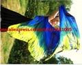 2016 высокое качество дешевые завесы танца женская сексуальная 100% шелк танец живота вуаль оптовая королевский Синий + зеленый + желтый