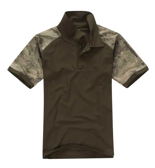 High quality 2016 New Summer Tactical T Shirt Outdoors Hunting Turn-Down Collar Short Sleeve T-Shirts Coolmax Polyester
