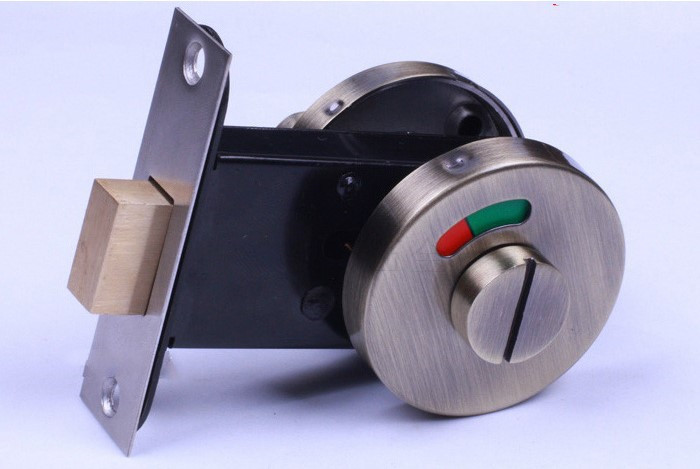 Door Lock With Red Green Indicator Public Restroom Toilet Partition Thumbturn