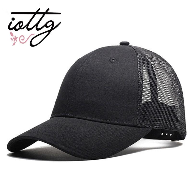 IOTTG 2018 New Casual Baseball Cap Female Snapback Trucker Blank Mesh Visor Hat Outdoor Sports Sun Hats Cap For Men And Women цена 2017