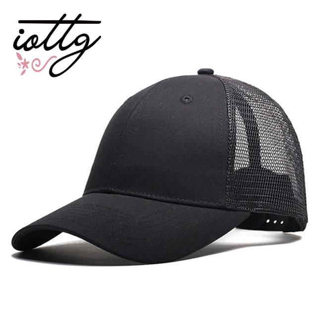 3bad5ec23ec Online Shop IOTTG 2018 New Casual Baseball Cap Female Snapback Trucker  Blank Mesh Visor Hat Outdoor Sports Sun Hats Cap For Men And Women