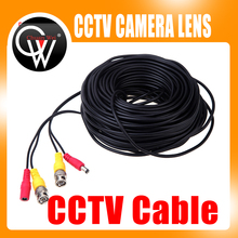 5m/10m/15m/20m/50m BNC DC Connector Power Audio Video AV Wire Cable For System DVR and CCTV Camera