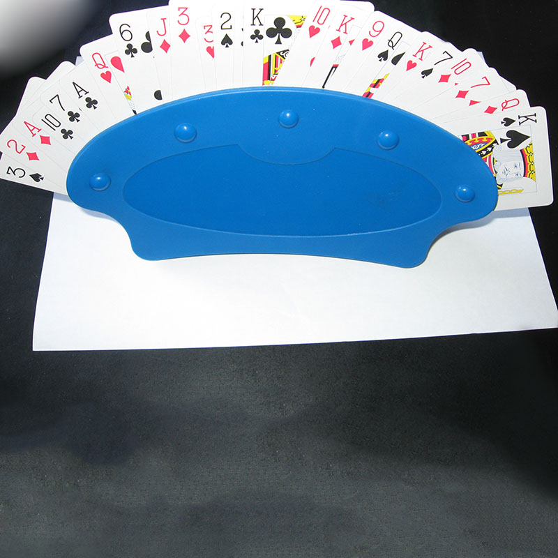 Newly Poker Seat Playing Card Stand Holders Poker Base Game Organizes Hands Free for Easy Party Play BN99 image