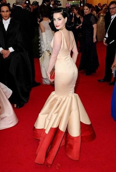 Дита фон тиз каннский кинофестиваль красный ковёр в цвет шампанского и красный русалка сексуальный платье с V шея минимальный уровень длина длинная вечерние платья - Цвет: Бежевый