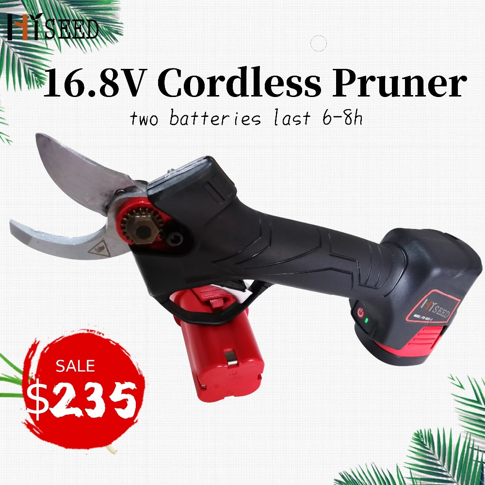 Cordless CE Forged Blade Electric Pruning Scissors Pruners Secateurs (German Imported Blade)