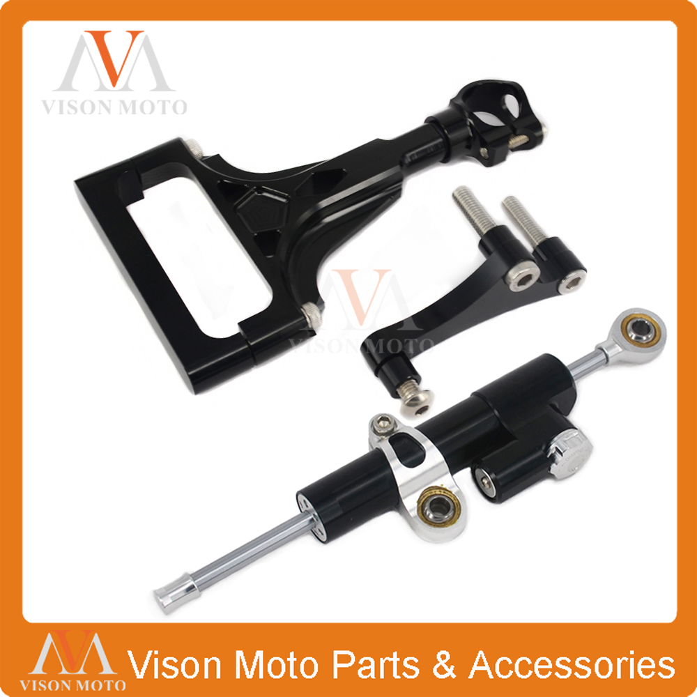 Фотография CNC Steering Damper Set Stabilizer With Bracket Mounting Assemblly For KAWASAKI Z1000 Z750 03 04 05 06 07 08 09 2003-2009