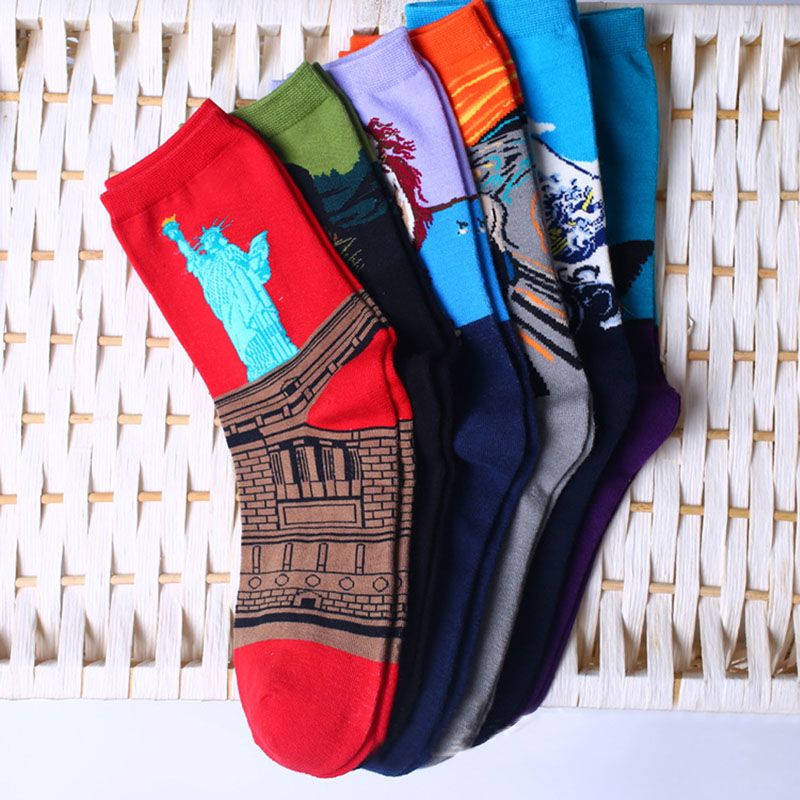 Womens Socks Mural Art Casual Socks Men Graffiti Unisex Socks Paintings Sock F05