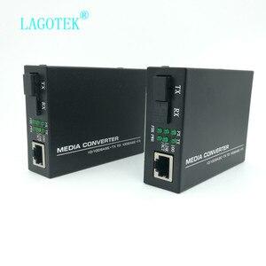 Image 5 - מקצועי אחד זוג אופטי סיבי מדיה ממיר סיבי משדר יחיד סיבי ממיר 25km SC 10/100M חד סיבים