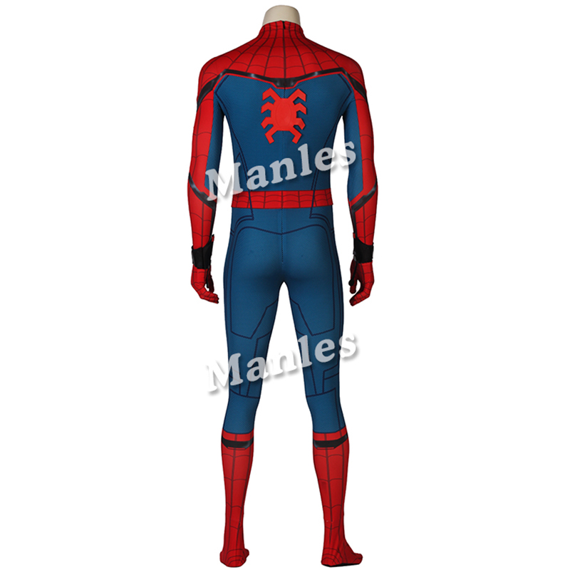 Image 3 - In Stock Spiderman Peter Parker Cosplay Spider Man Homecoming Costume Jumpsuit Zentai Adult Men Superhero Halloween Party Outfit-in Movie & TV costumes from Novelty & Special Use