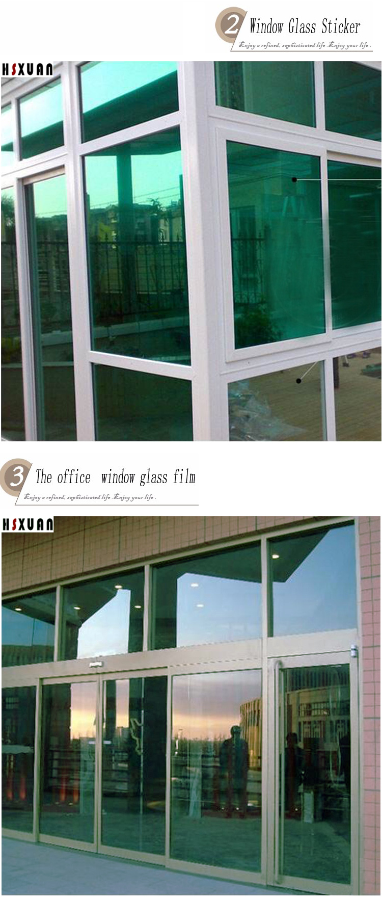 ᗕDecoración transparente ventana películas protector solar 40x100 ...