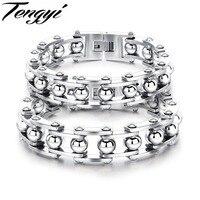 WALL TENGYI Punk Phong Cách Đàn Ông của Sức Stainless Steel Bracelet Chất Lượng Cao Handmade Vòng Đeo Tay Vàng/Bạc Màu Jewelry Nam Gift 888
