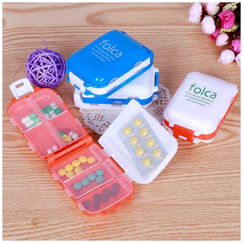 New Weekly Sort Folding Vitamin Medicine Pastillero Maquillaje Caja de almacenamiento Contenedor # ZH065